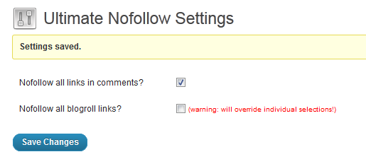 Settings page on the Dashboard.