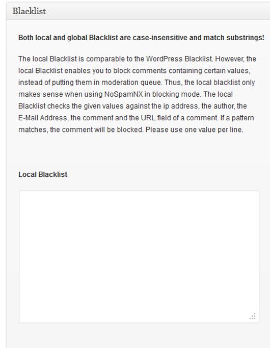 Local Blacklist