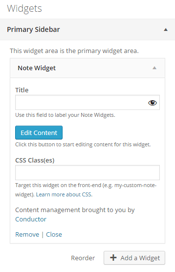 note a live edit text widget wordpress org