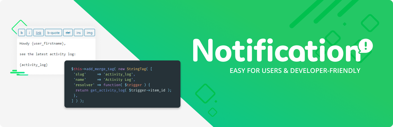 Notification – Custom Notifications and Alerts for WordPress