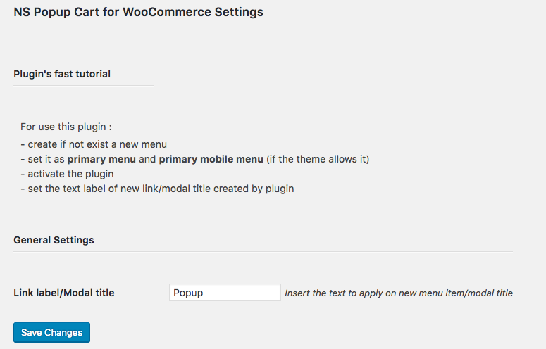 NS Popup Cart for WooCommerce