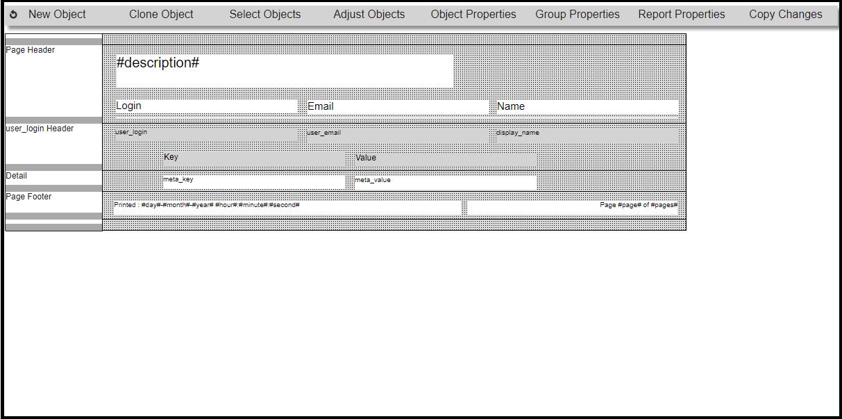 Report Builder GUI
