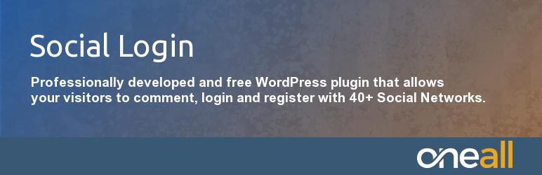 Social Login & Register for WordPress – 40+ Social Networks / OneAll INC