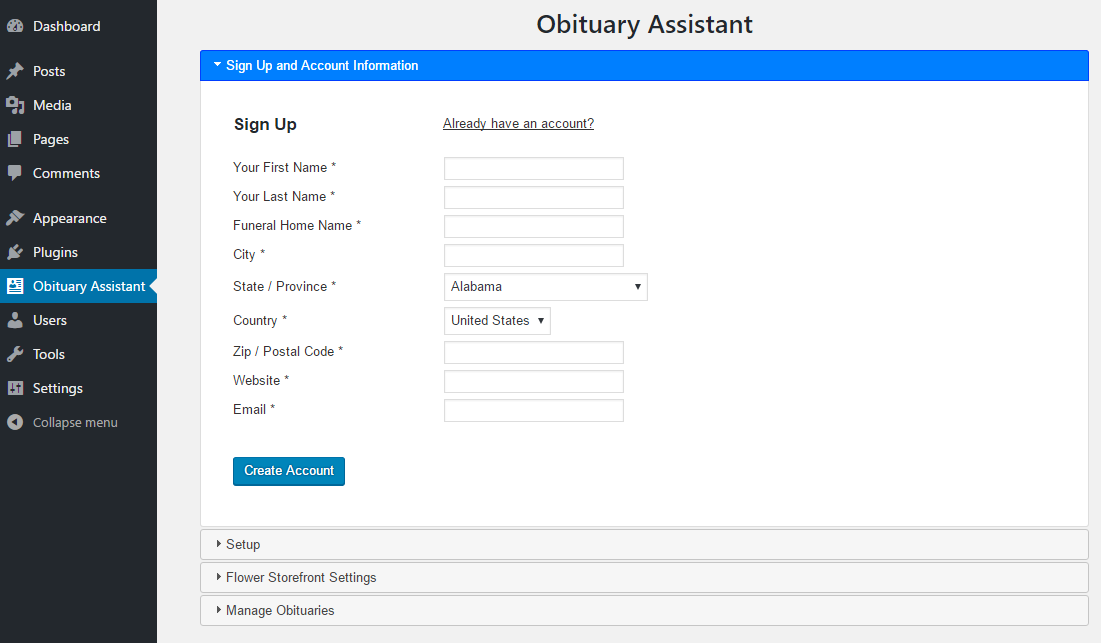 Obituary Assistant by Funeral Home Website Solutions