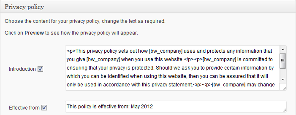 oik options - privacy policy: Introduction, effective from