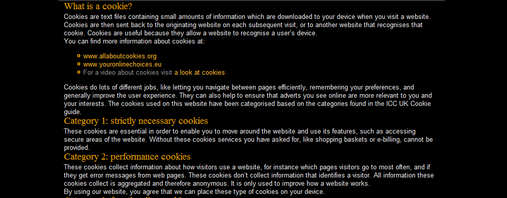 Sample generated page: from What is a cookie?
