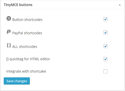 oik options - Buttons