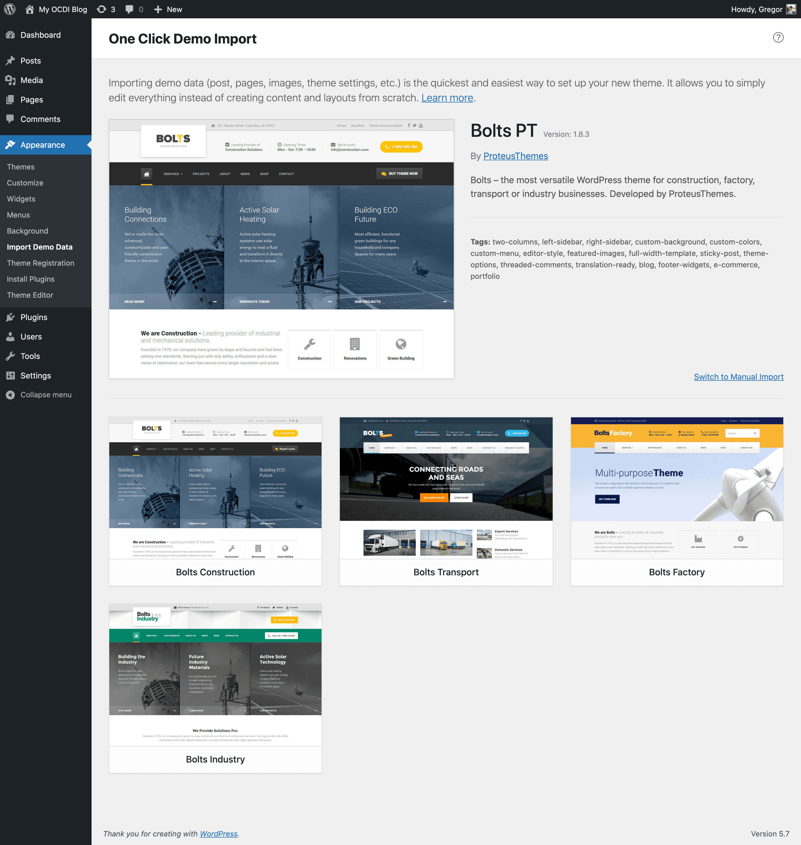 One Click Demo Import Wordpress Plugin Wordpress Org