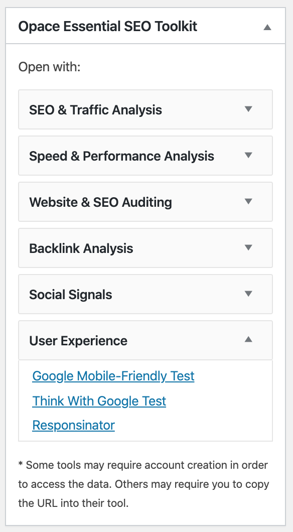 The Essential SEO Toolkit Metabox