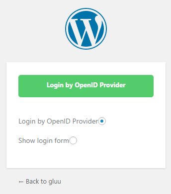 Frontend login page