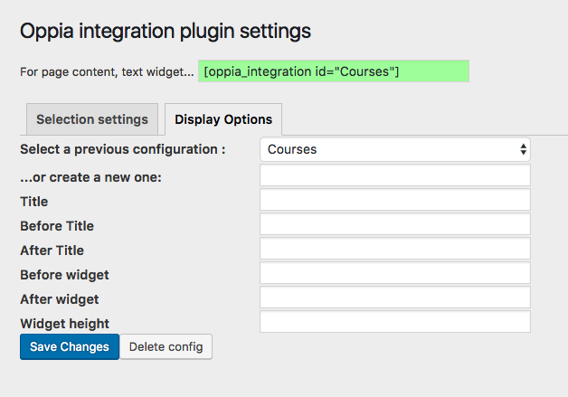 Oppia integration plugin