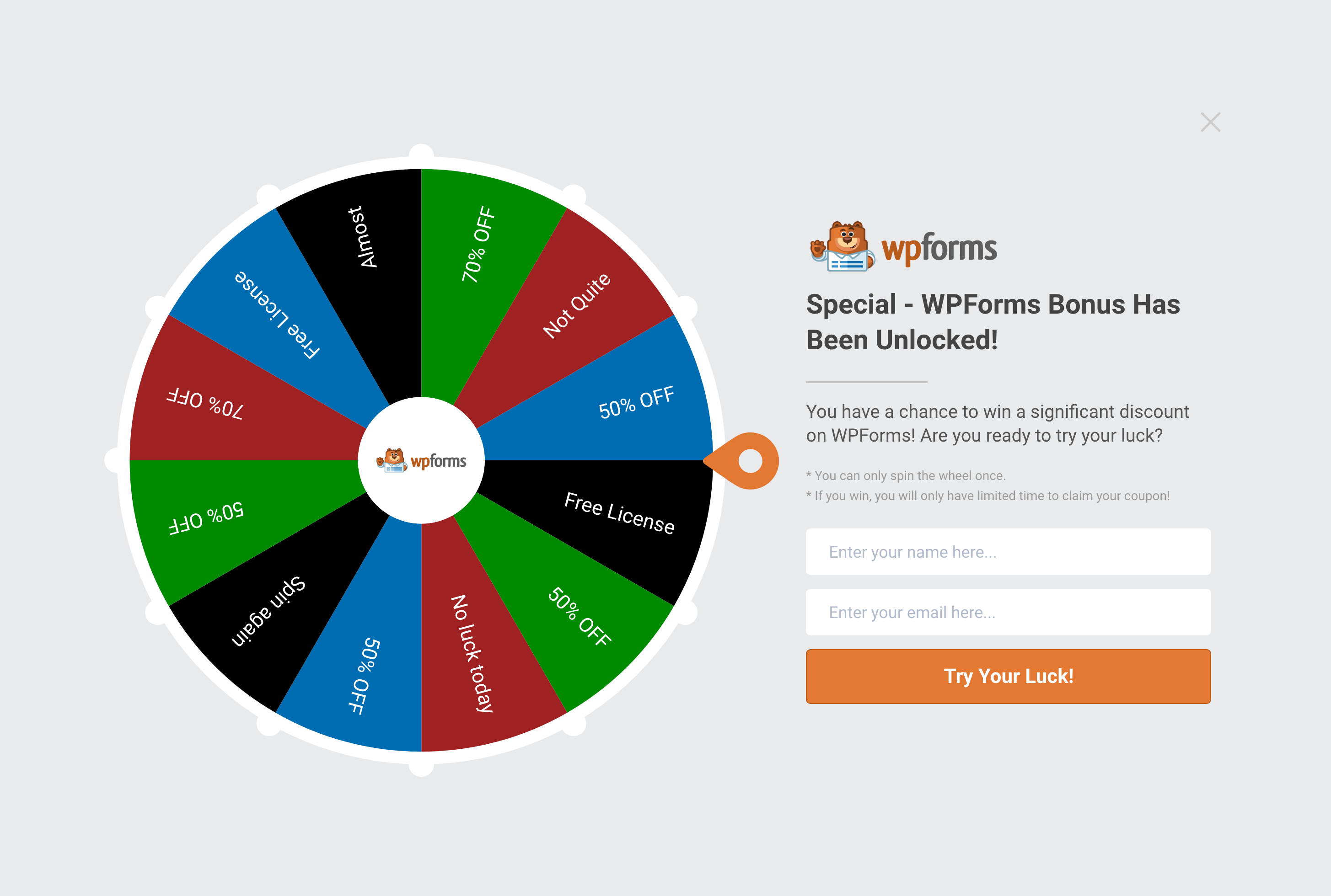 Boost conversions and engagement with spin a wheel popup (gamification)