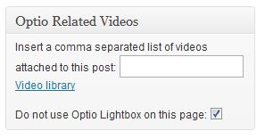Edit Post metabox interface