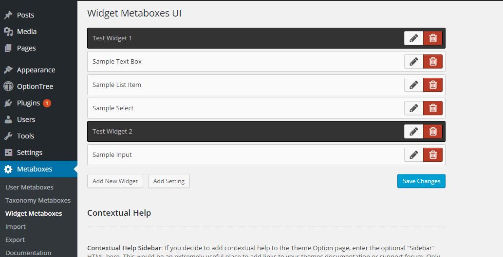 <p>Widget MetaboxUI Settings</p>