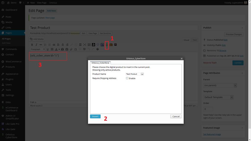 Plugin icon when editing post/page