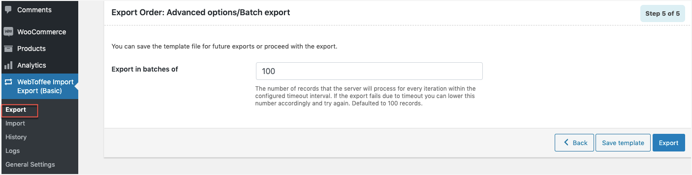 <p>Order Import Success Screen</p>