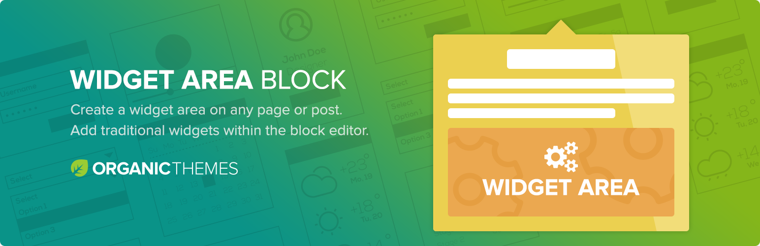 Organic Widget Area Block