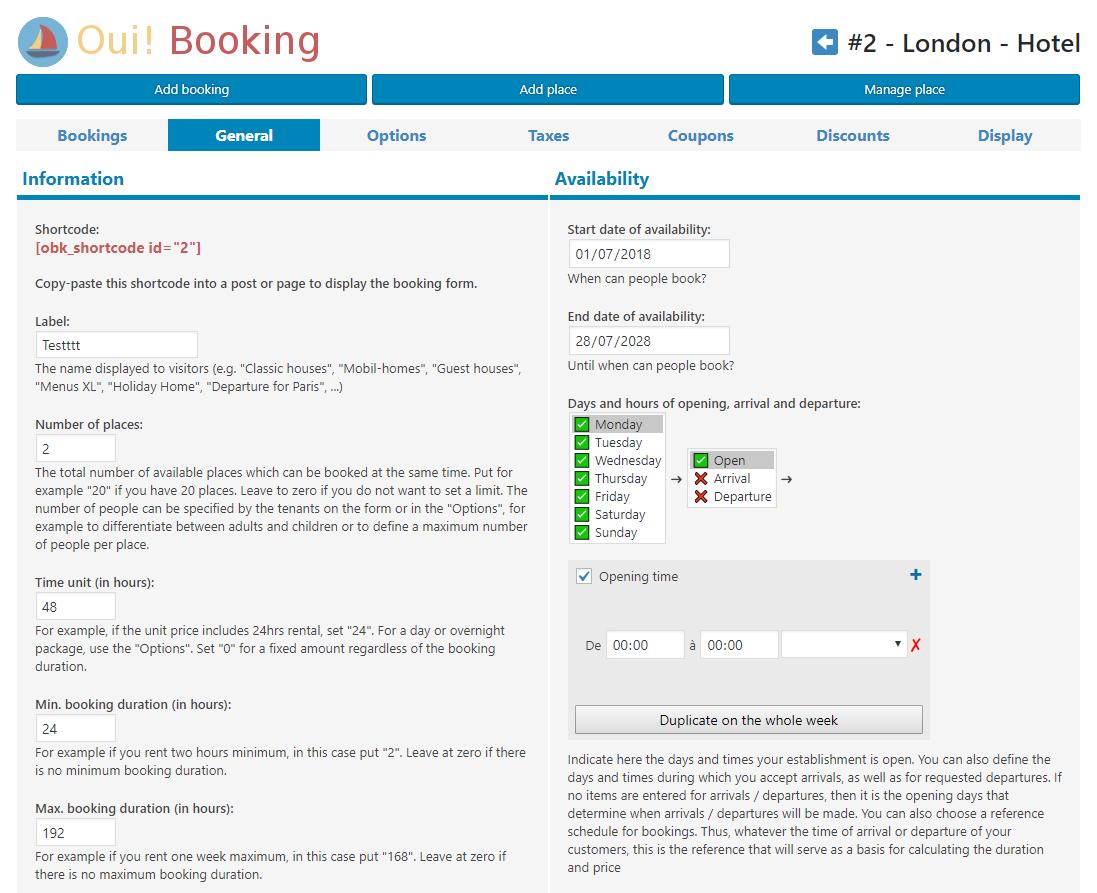 Oui! Booking