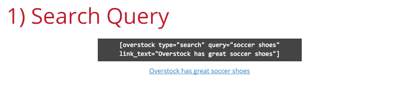 The 'Search Query' Shortcode