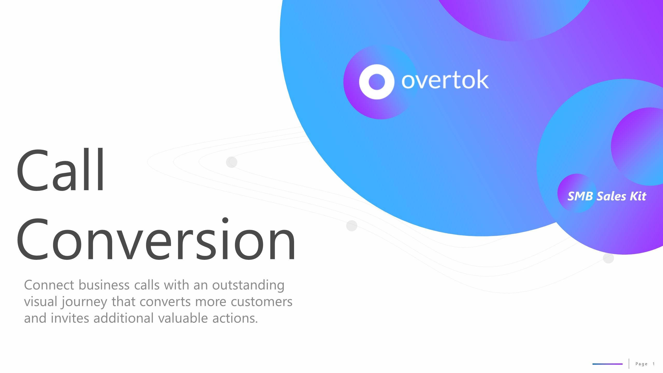 Overtok Call Conversion