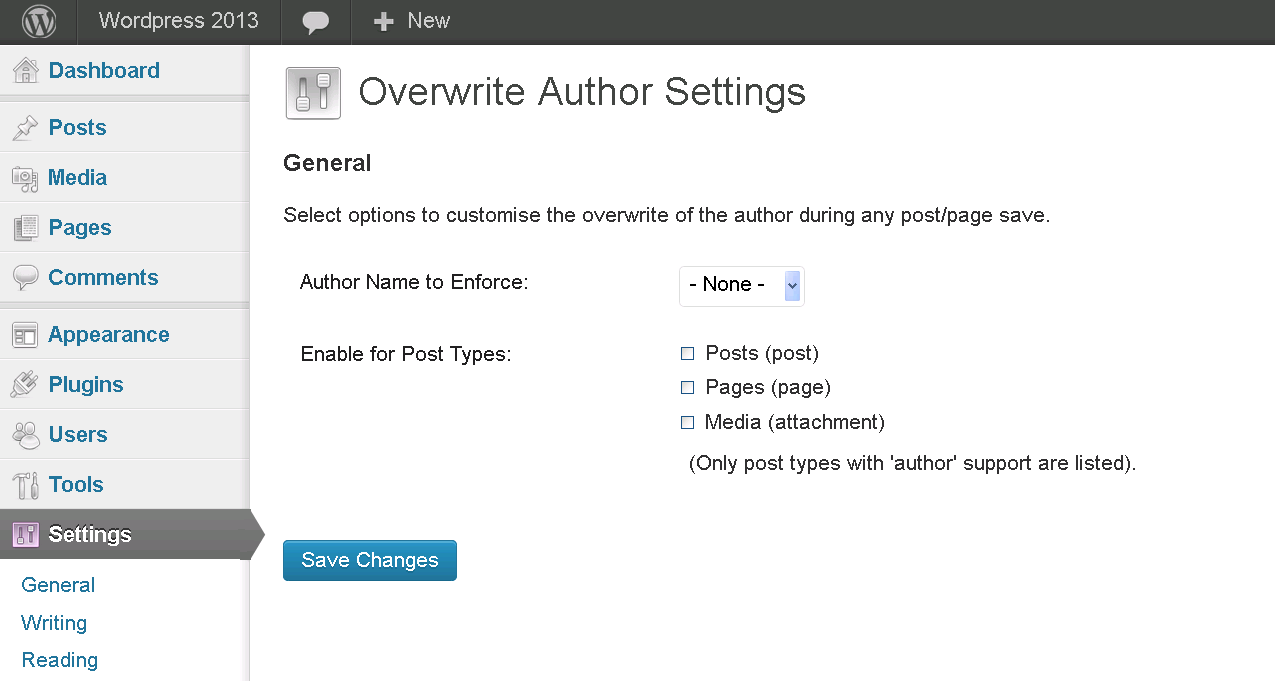 overwrite-author-name screenshot 1