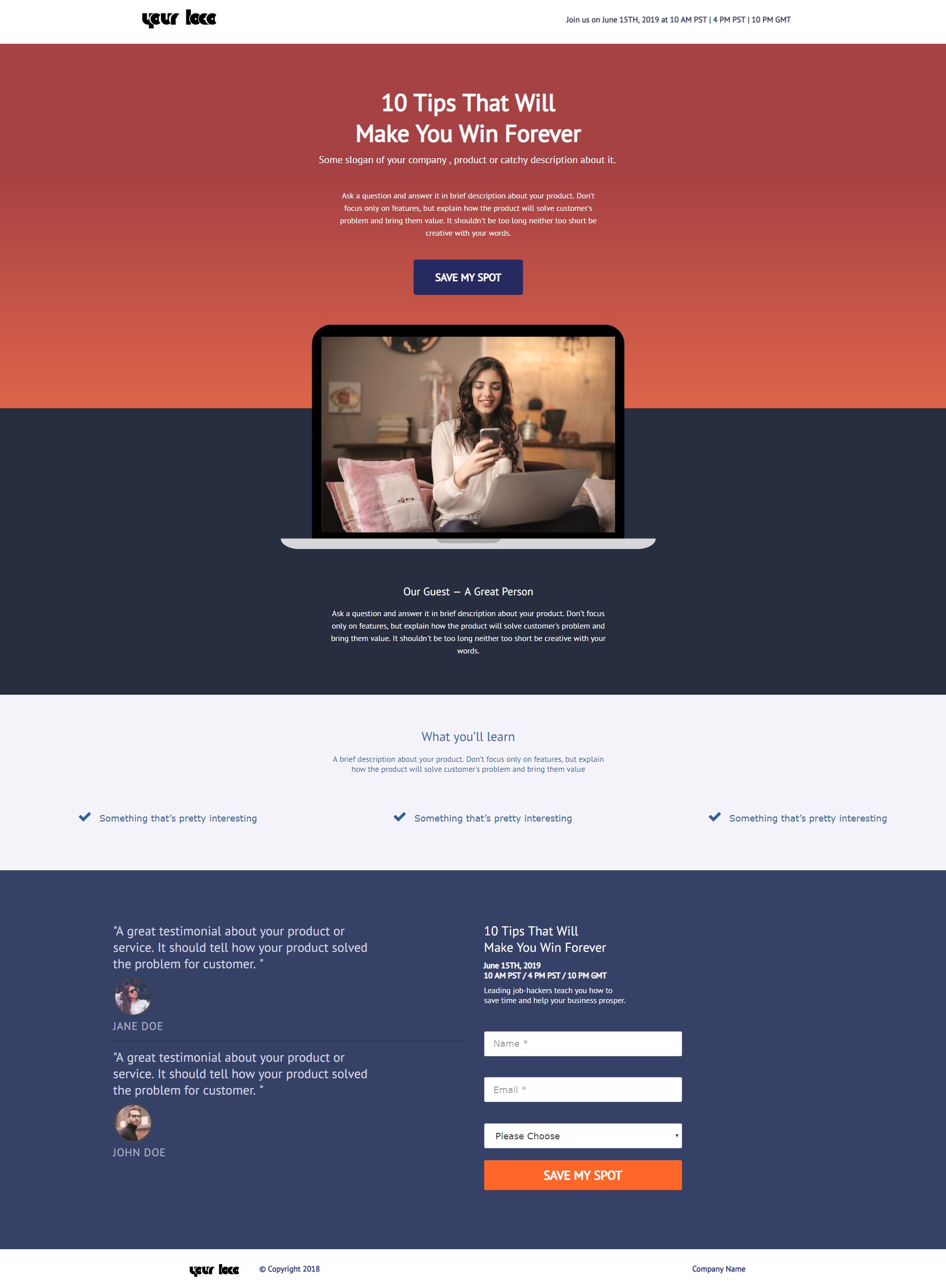 <p>A template you will get with this plugin by PluginOps.</p>