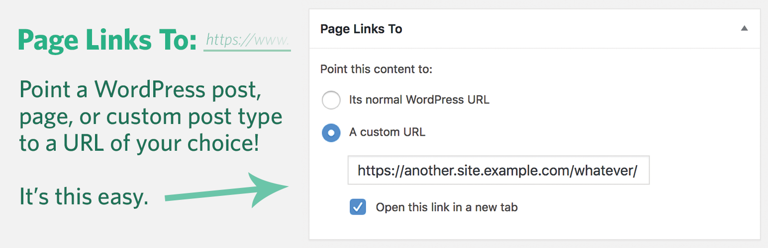 Page Links To – WordPress plugin | WordPress org