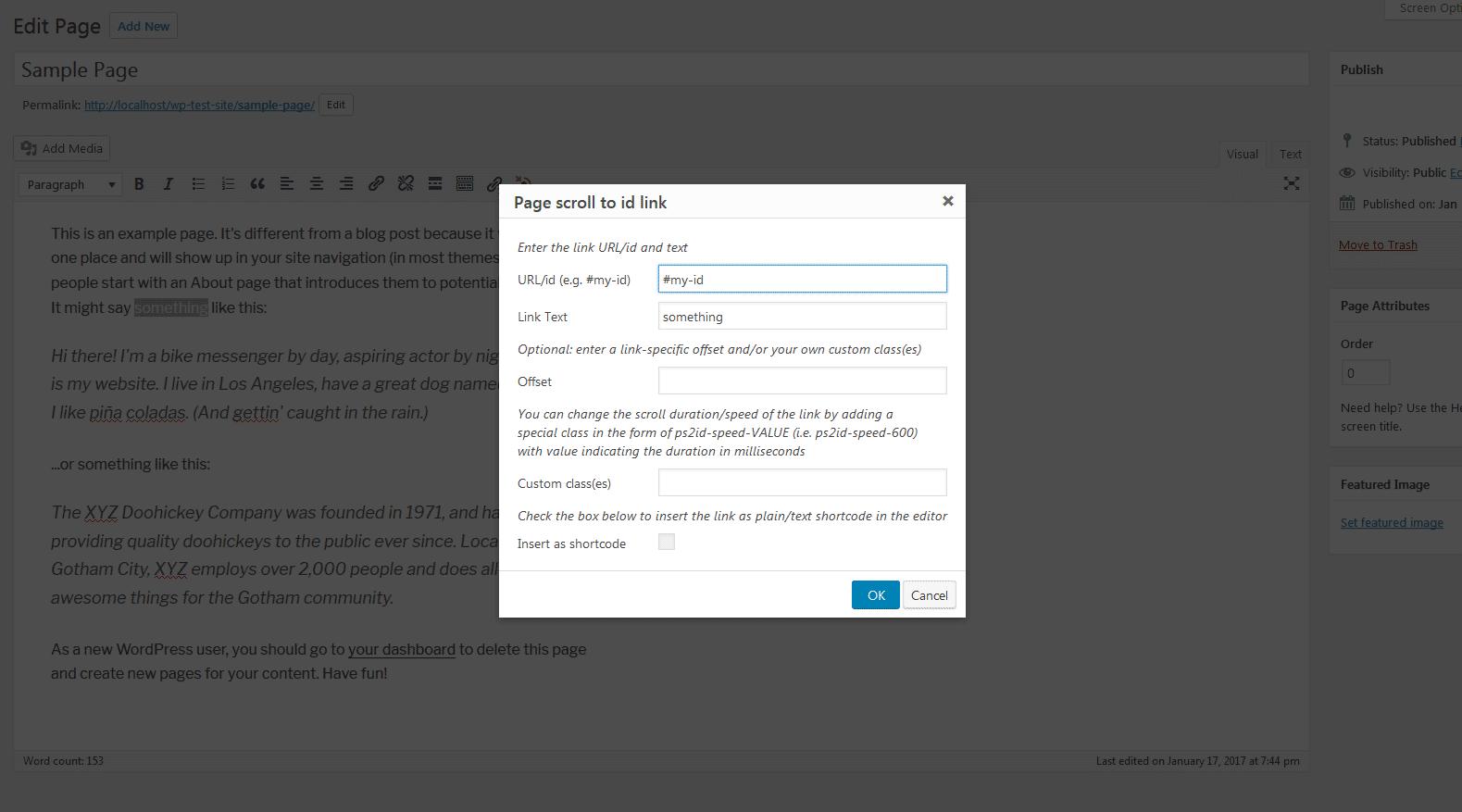 Page scroll to id – WordPress plugin | WordPress org