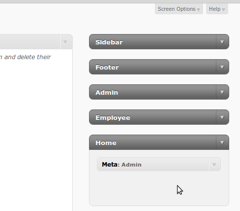 Your new sidebars show up under widgets.  No need to clutter up the Page editor.