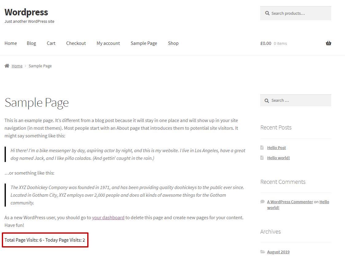 Page Visit Counter – WordPress plugin | WordPress org
