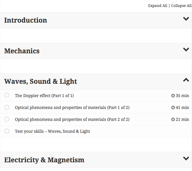 <p>Screenshot of modules using Twenty Fifteen theme.</p>