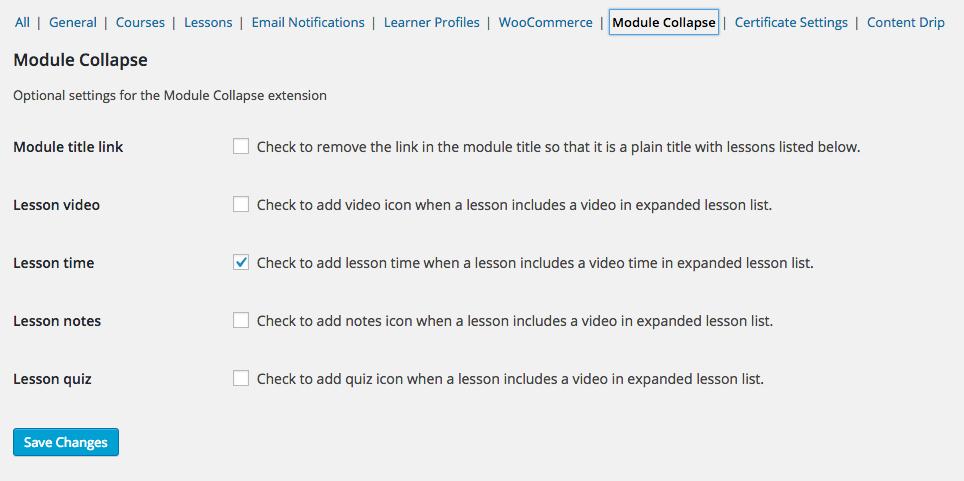 <p>Screenshot of admin settings area.</p>