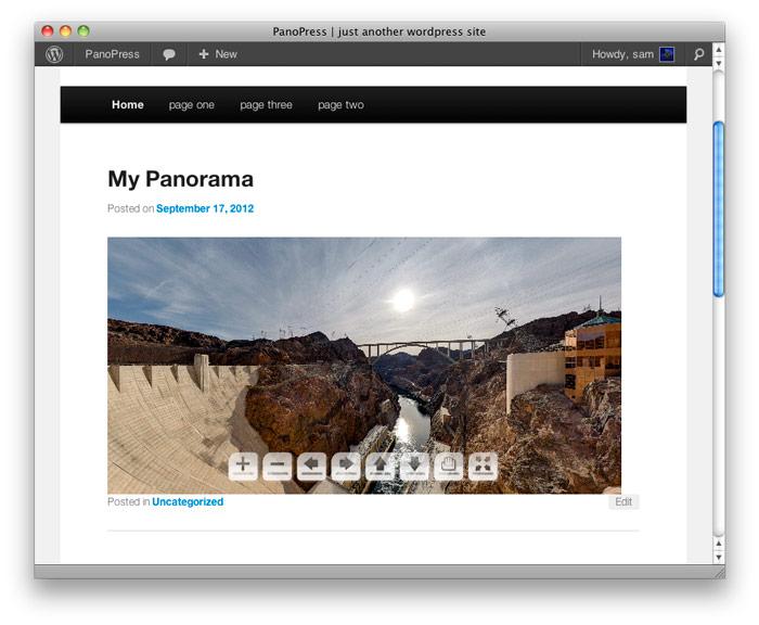 <strong>Panorama Display</strong> - Display your Panorama inline