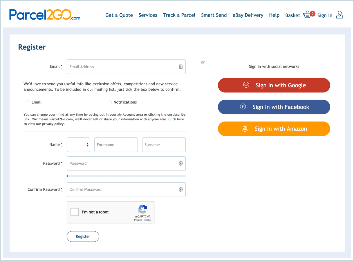 <p>To use this plugin you will need to have a registered account on Parcel2Go.com and funds in the PrePay account.</p>