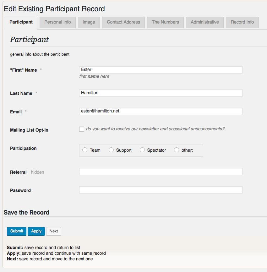 Participants Database – WordPress plugin | WordPress org