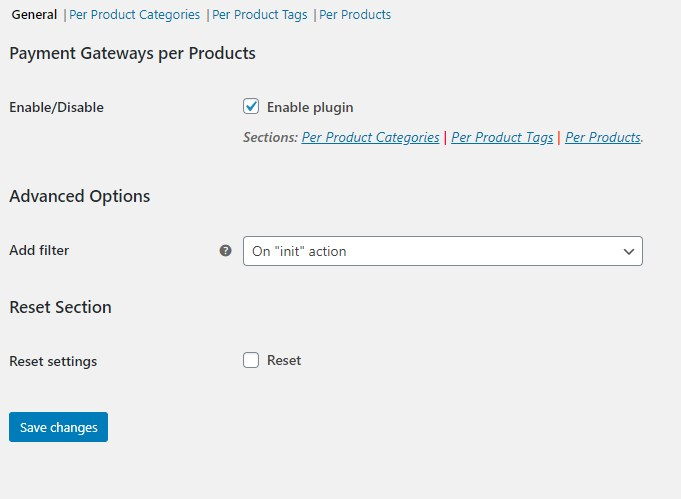 Payment Gateways Per Products/Categories/Tags for WooCommerce