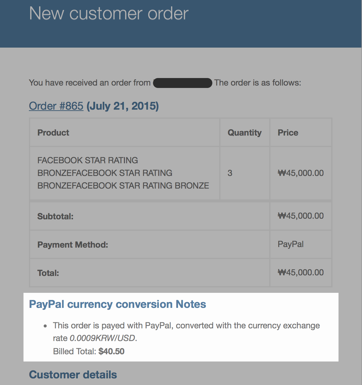 Paypal currency converter basic for woocommerce wordpress plugins email order note sample nvjuhfo Choice Image