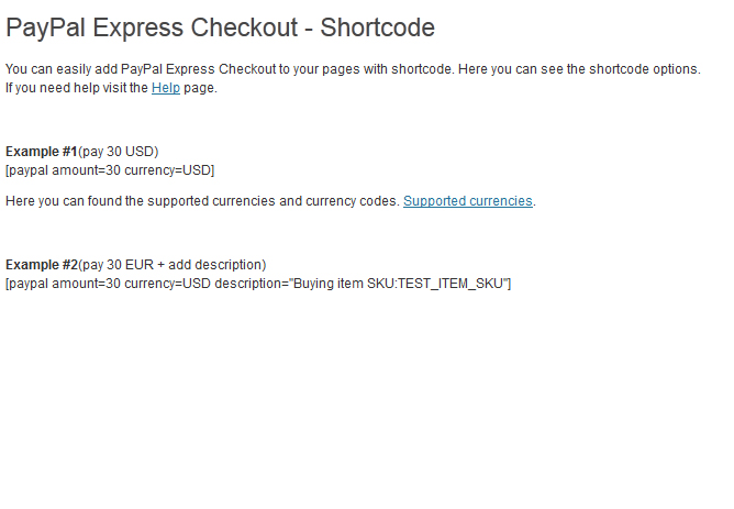 Shortcode support