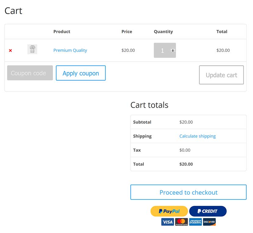 Paypal for woocommerce wordpress display pay with credit card and pay with paypal paypal credit options on the shopping cart page fandeluxe Choice Image