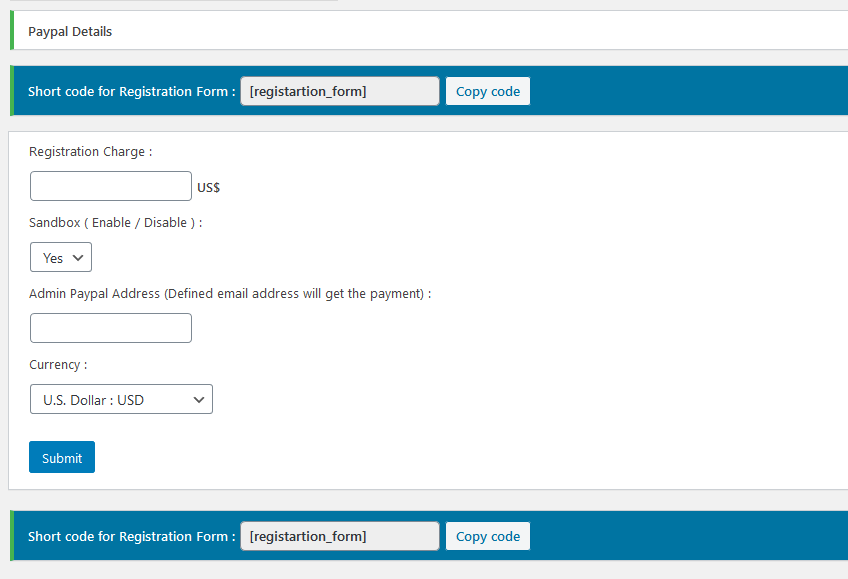 paypal-frontend-registration screenshot 2