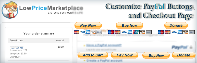 PayPal Pay Now, Buy Now, Donation and Cart Buttons Shortcode