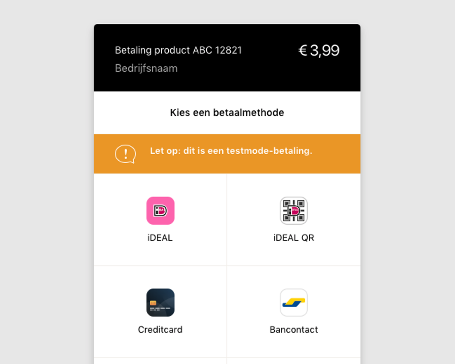 """<strong>Payments processed via Mollie.com</strong> - After clicking """"Pay"""" visitors will immediately be redirected to secure payment provider Mollie, which will process the payments and wire the funds to your own bank account. Mollie is certified by the Dutch national bank 'De Nederlandsche Bank (DNB)'."""