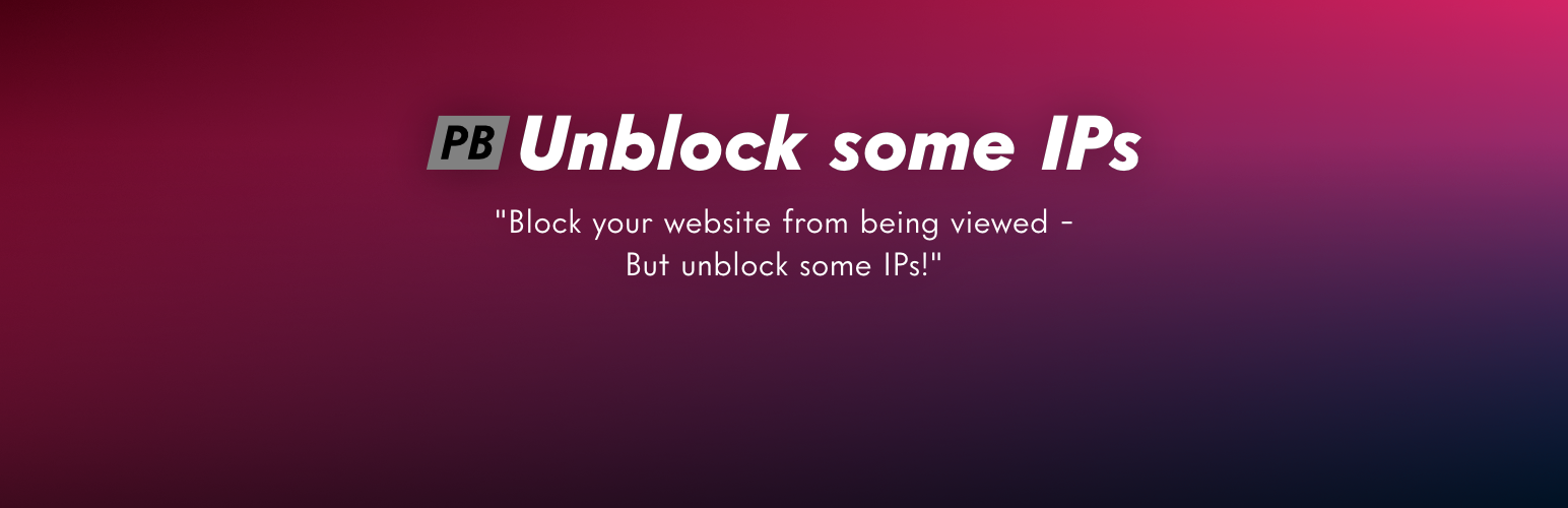 PB Unblock some IPs