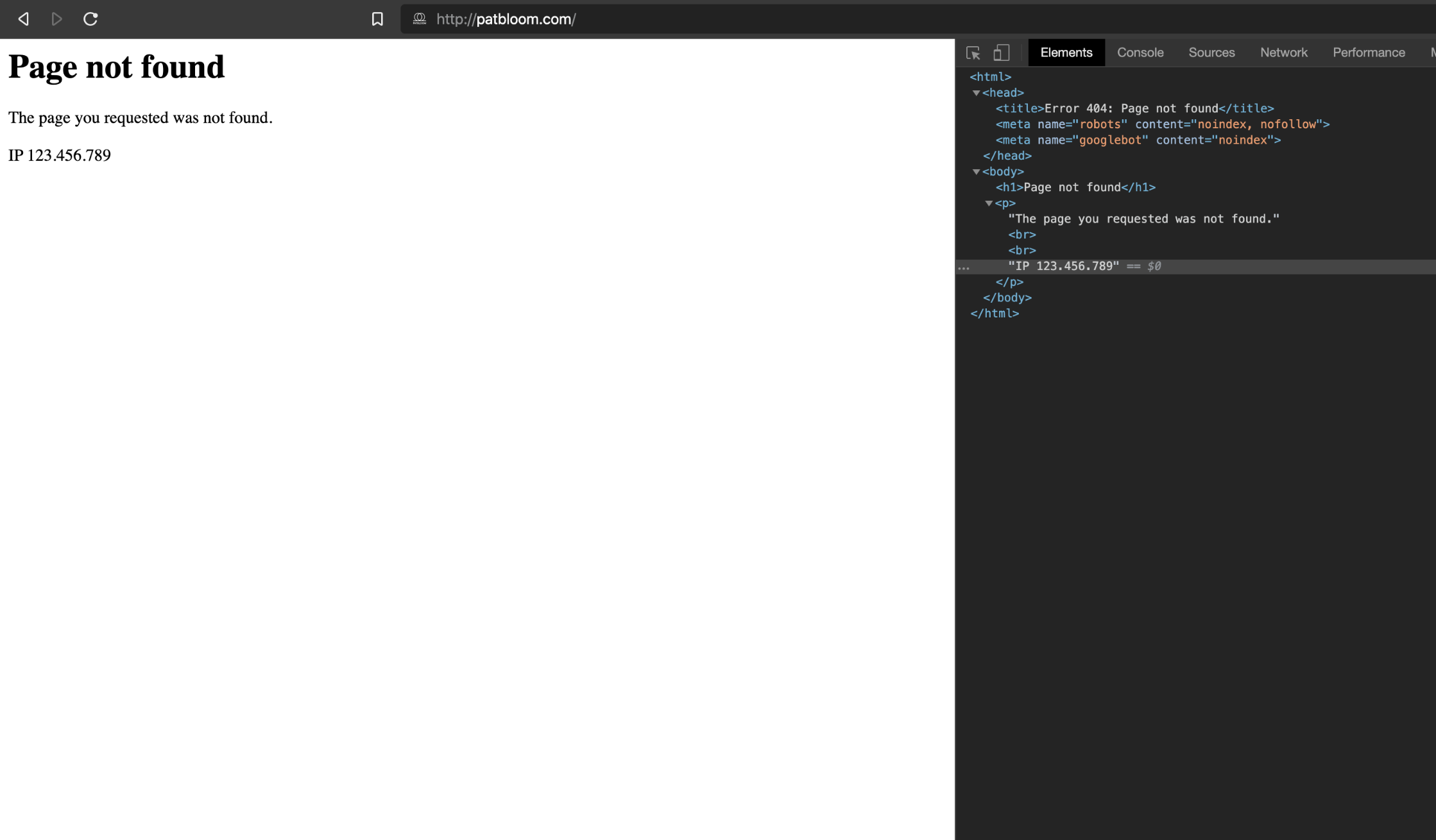 What a blocked visitor will see on the front-end