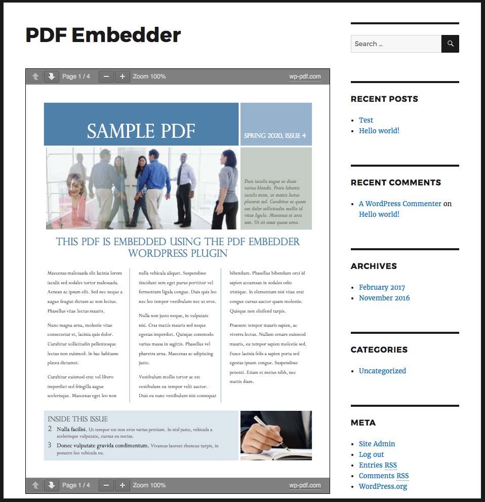 PDF Embedder – WordPress plugin | WordPress org