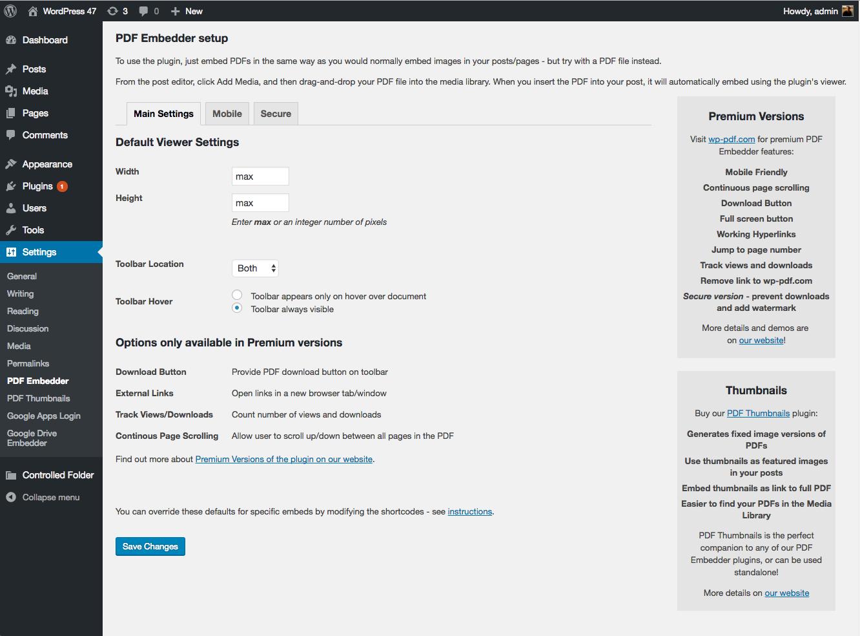Create Pdf Page In Wordpress
