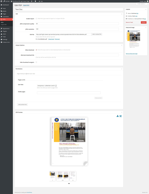 PDF FILE PLUGIN WORDPRESS LOGIN EBOOK