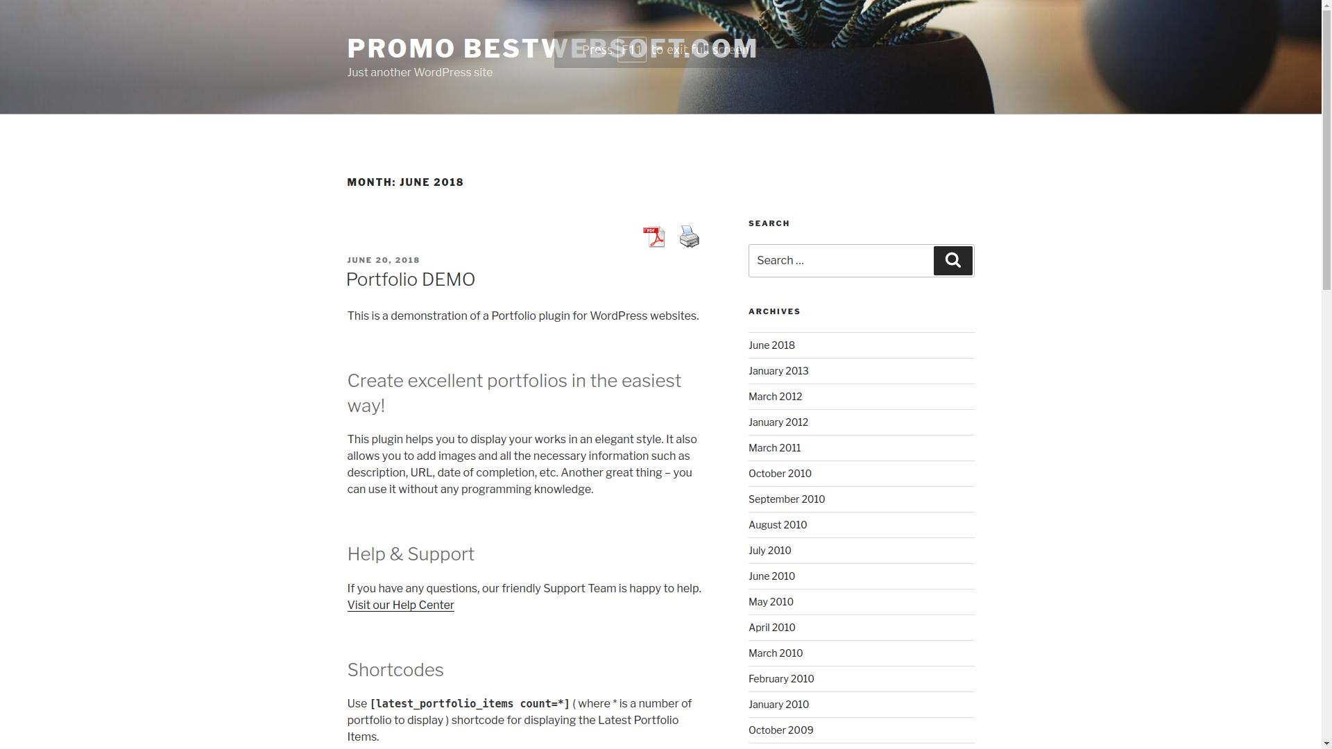 PDF Print By BestWebSoft WordPress Plugins