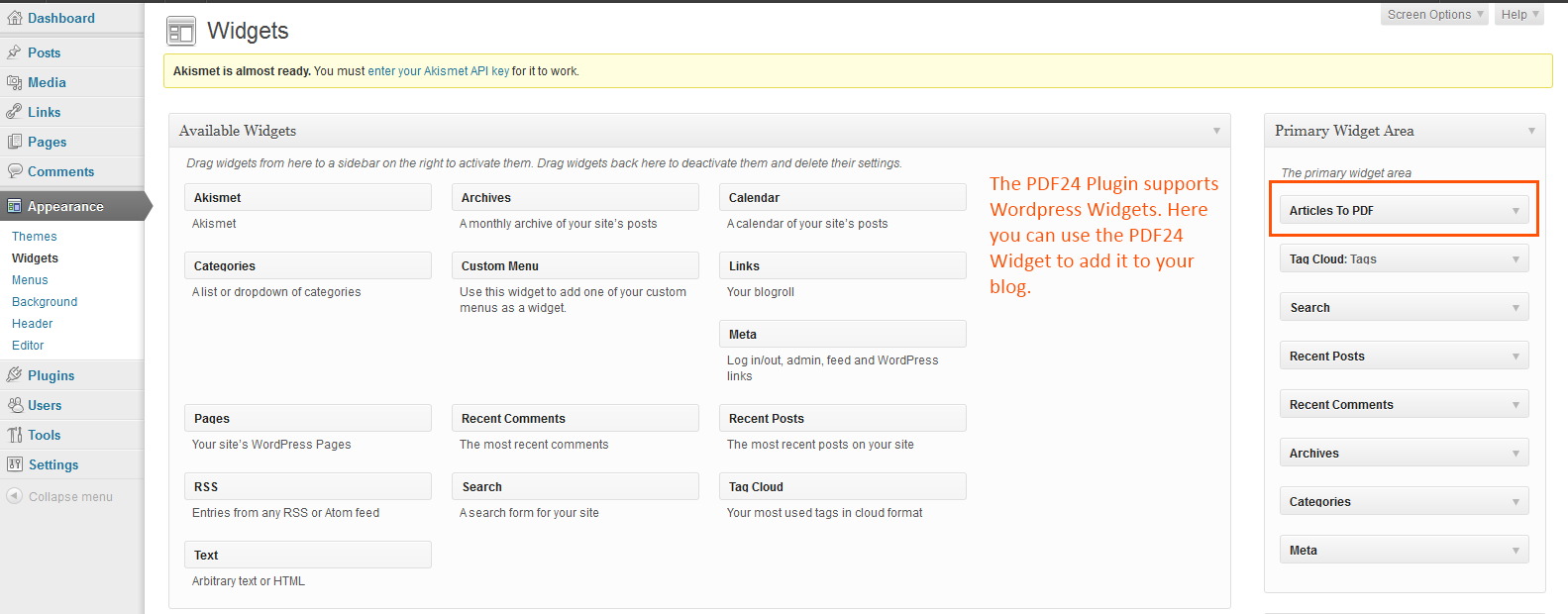 PDF24 Articles To PDF – WordPress plugin   WordPress org