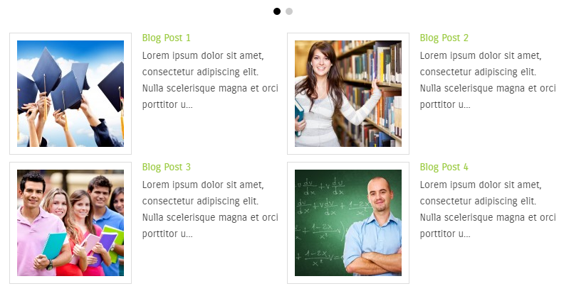 Example: 2 images per row, image alinged left, no read more